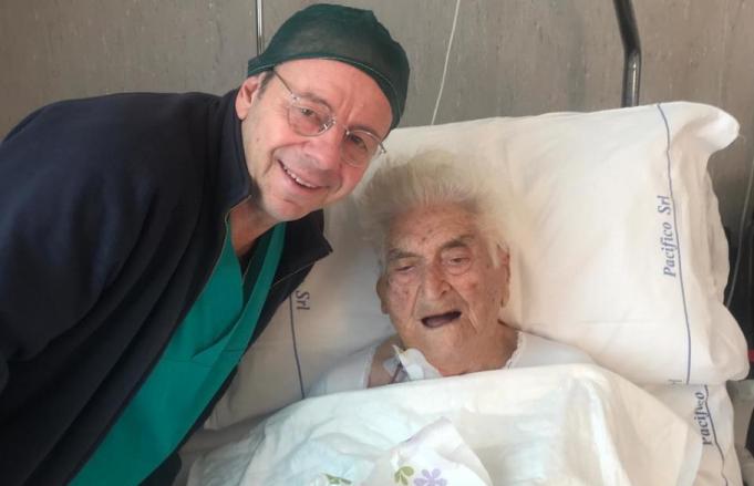 A 100 anni viene operata al volto per un tumore di 4 chili, nell'equipe chirurgica due dottori marsicani