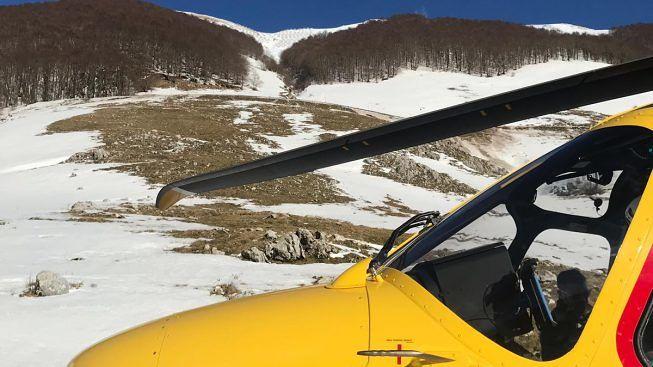 Monte Sevìce, scivola escursionista, salvato dall'elicottero del 118 grazie all'allarme lanciato con GeoResQ