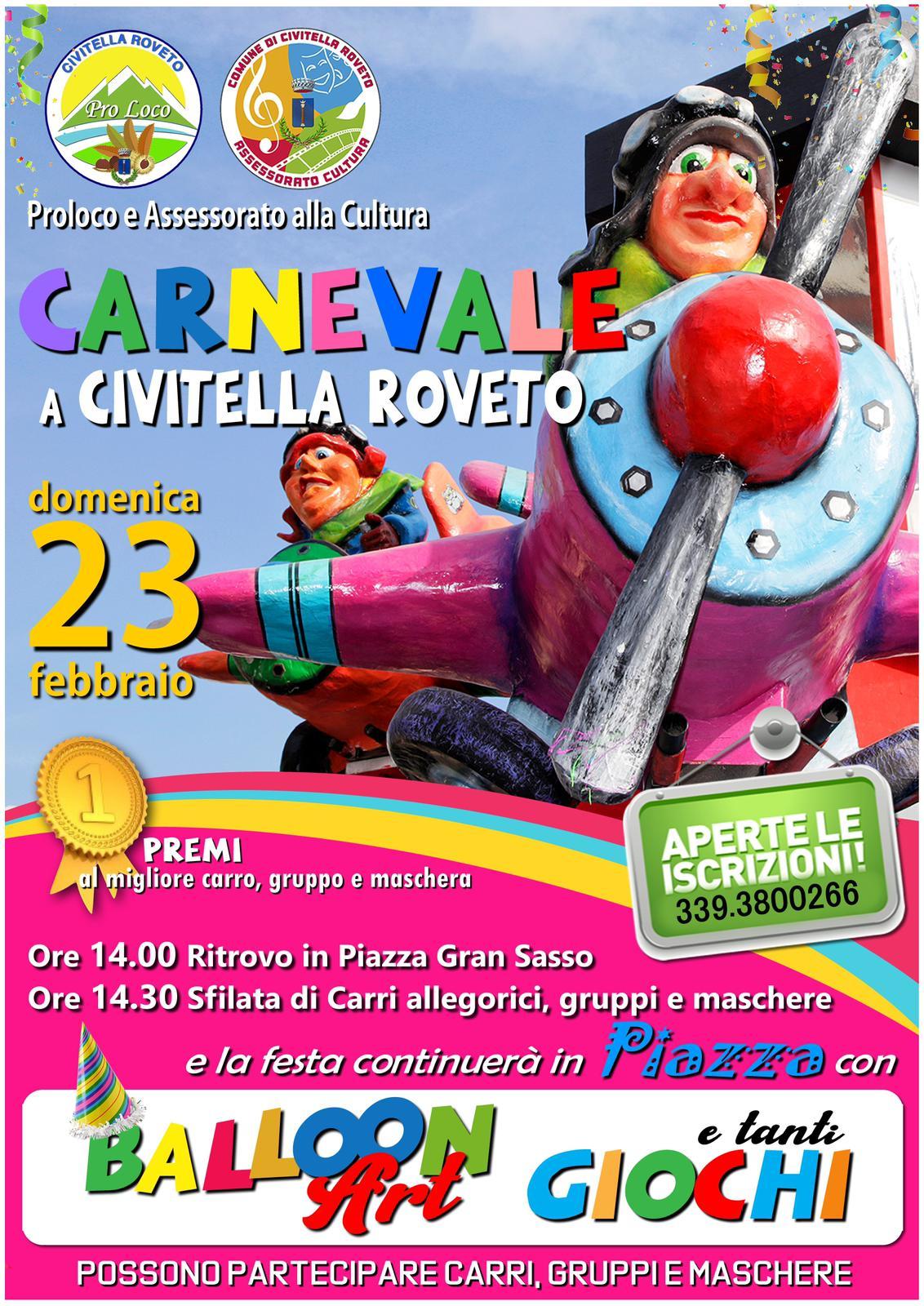 Super sfilata di Carnevale a Civitella Roveto