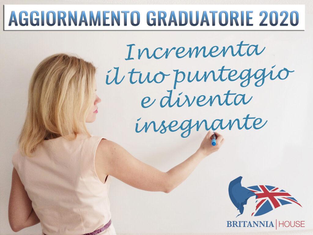 Graduatorie 2020. Con Britannia House incrementi il tuo punteggio per diventare un insegnante