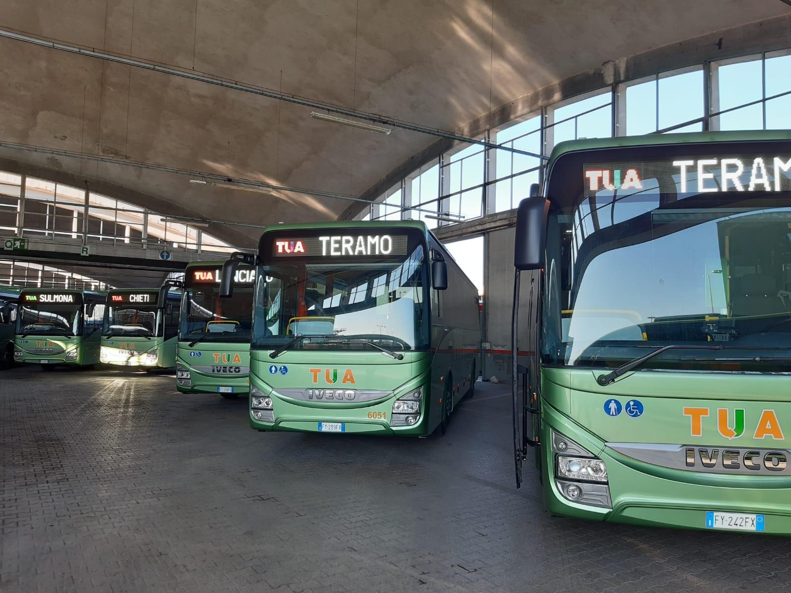 Ventinuovi bus per TUA SPA, uno servirà ad Avezzano