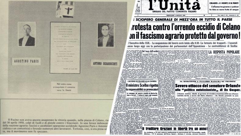 Eccidio di Celano: contributo dalla Regione per il 70 Anniversario dalla Morte di Berardicurti e Paris