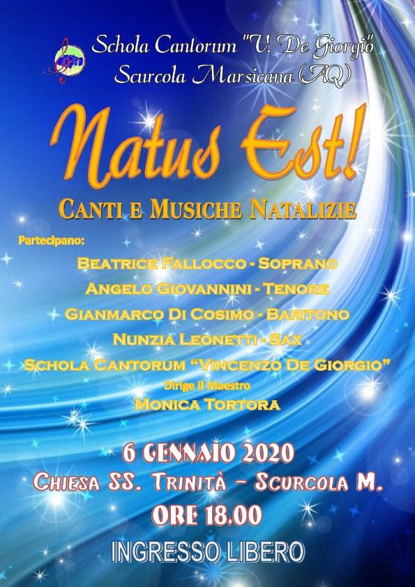 "Concerto ""Natus Est"" della Schola Cantorum ""V. De Giorgio"" a Scurcola Marsicana"