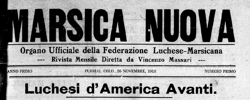 Marsica Nuova. Il giornale dei marsicani emigrati negli Stati Uniti a inizio '900