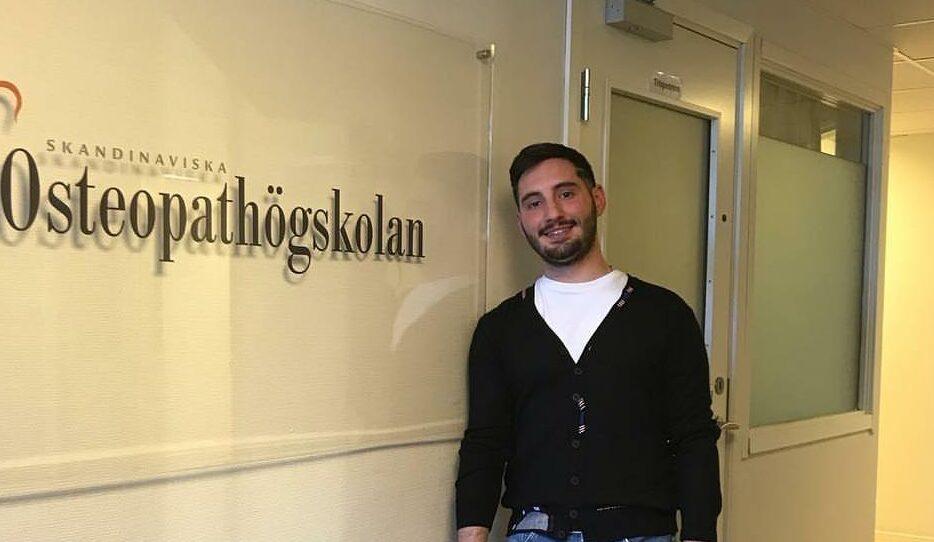 Il giovane avezzanese Andrea Troiani ha prestato assistenza osteopatica alla Nazionale Rumena