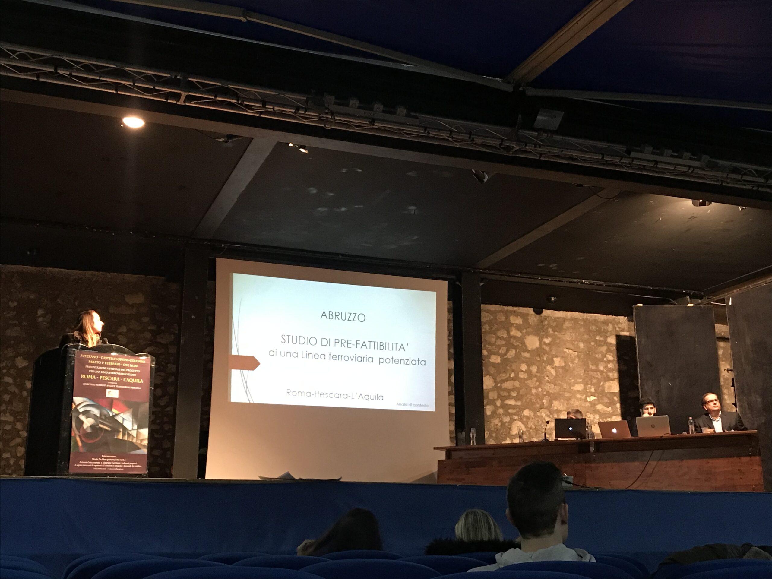 Il Comitato per la mobilità veloce territoriale Abruzzo presenta ad Avezzano il progetto per una linea ferroviaria veloce