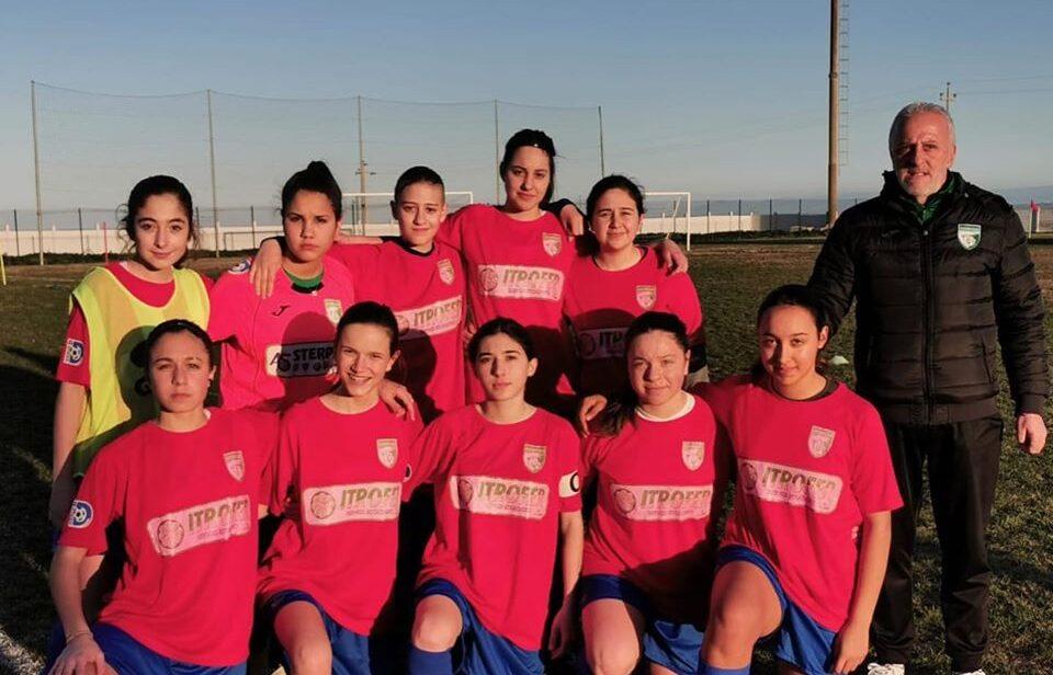 L'Avezzano calcio femminile U15 travolge 4-0 l'Adriatica Campomarino