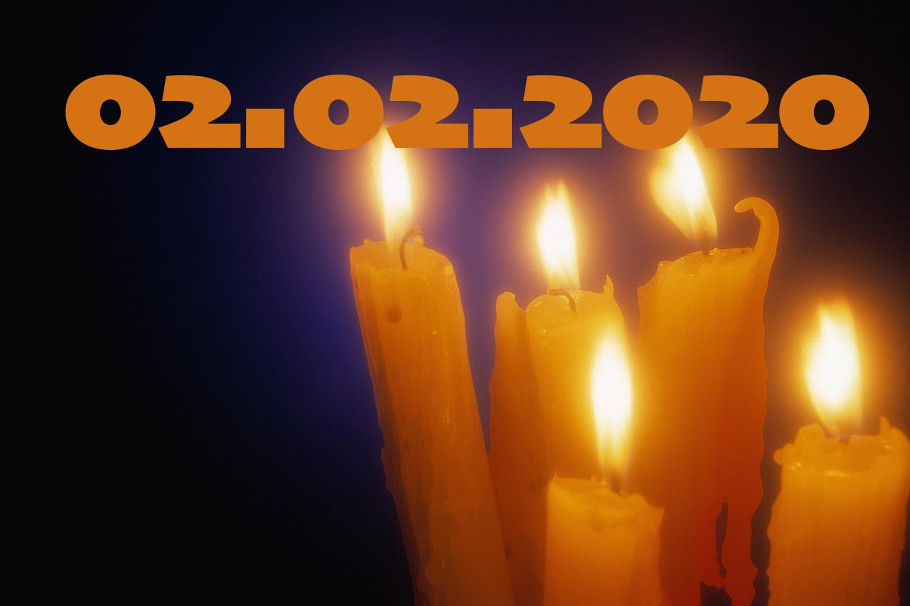 Candelora palindroma domenica 02-02-2020, combinazione rara quasi unica