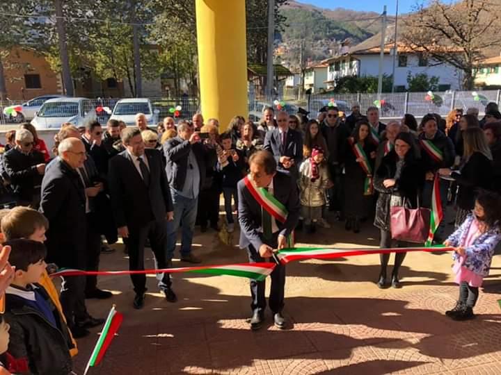 Inaugurata la nuova scuola elementare a Rocca di Botte