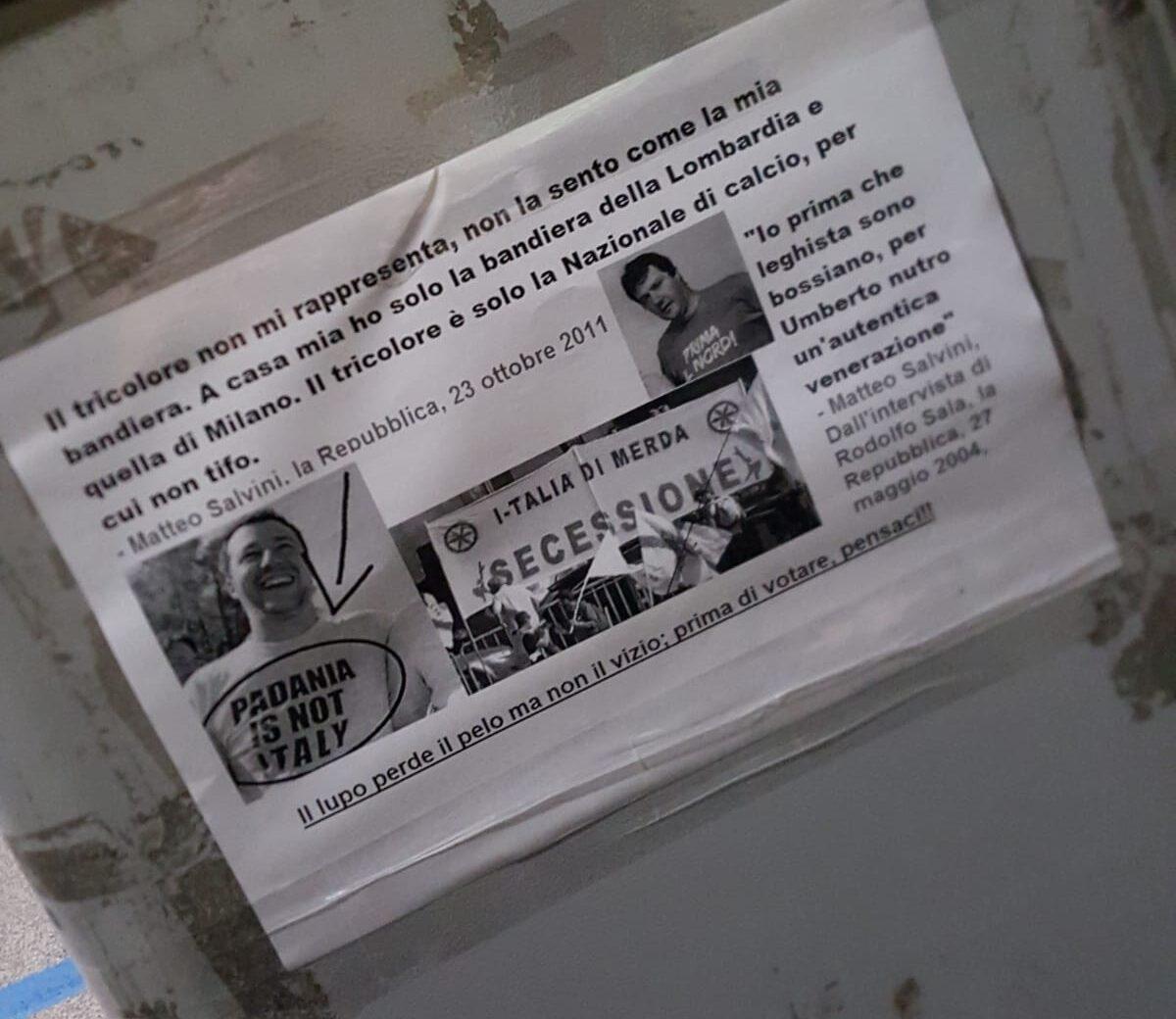Comparsi manifesti contro Salvini ad Avezzano
