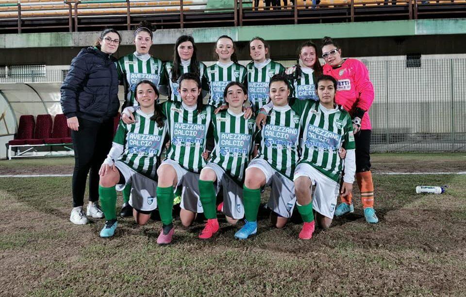 L'Avezzano calcio femminile si impone con un netto 3 a 0 sul Castelnuovo