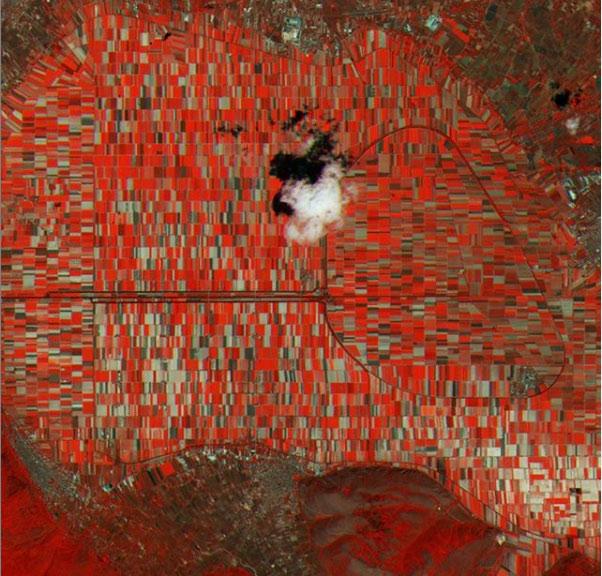 """Un satellite fotografa il Fucino, l'Agenzia Spaziale Europea commenta """"Avezzano in Abruzzo - che bellezza!"""""""