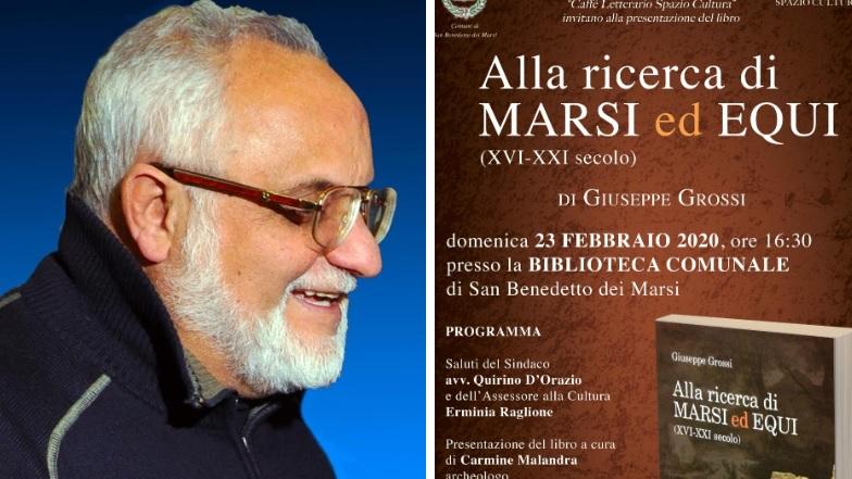 Alla ricerca di Marsi ed Equi. Giuseppe Grossi presenta il suo ultimo libro a San Benedetto dei Marsi