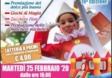 Oggi pomeriggio lo spirito del Carnevale invade il Palasport di Celanocon musica, coriandoli e tante piccole mascherine