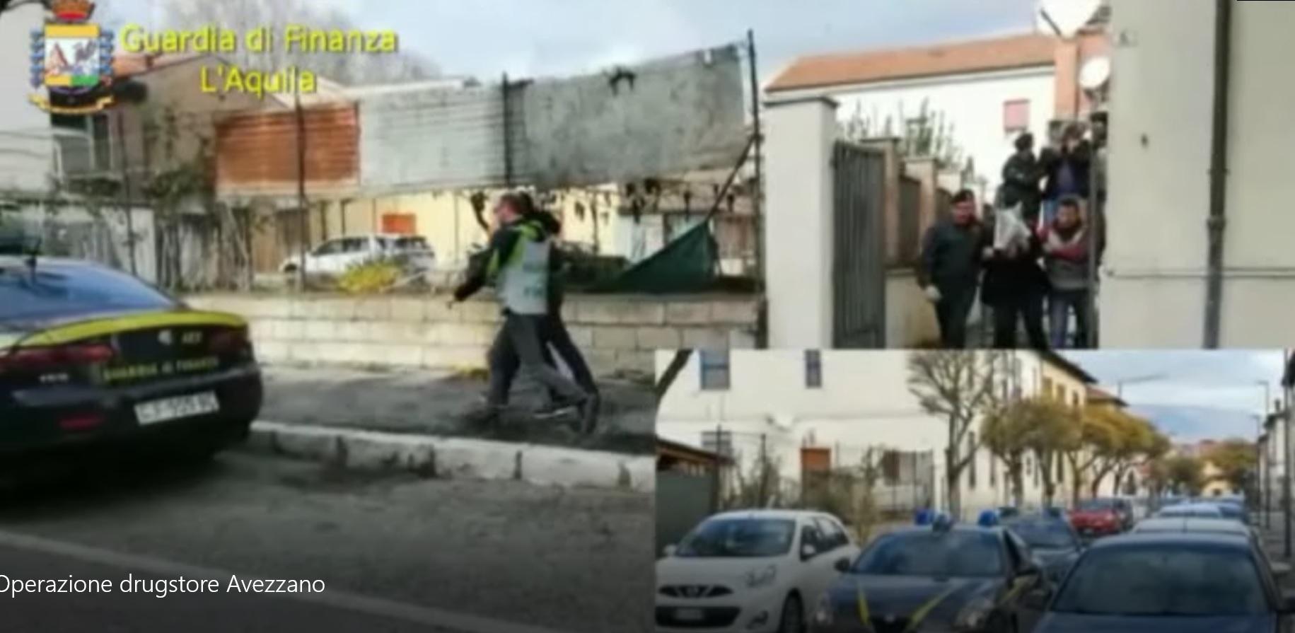 """Una """"catena"""" dello spaccio ad Avezzano e nella Marsica, 9 ordinanze di custodia cautelare in carcere, sequestrate 7 autovetture (VIDEO)"""