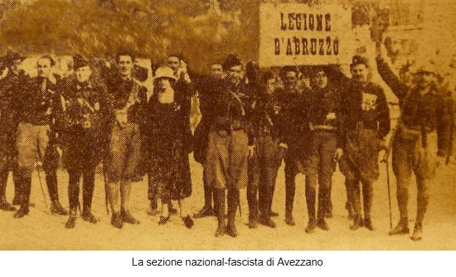 Autorità provinciali e locali sottoposte allo strapotere dei caporioni fascisti Marsica (Gennaio febbraio 1923)