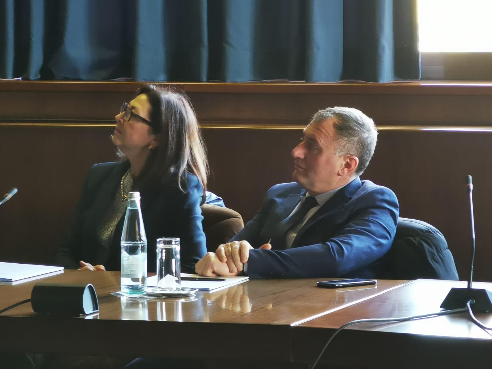 Il Prefetto e il Presidente della Provincia dell'Aquila in visita al Telespazio