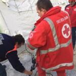 Misure preventive coronavirus, si allestisce tenda pre-triage fuori dal pronto soccorso dell'ospedale di Avezzano