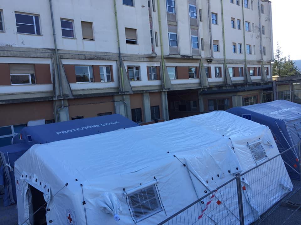In corso il potenziamento delle strutture pre triage all'Ospedale di Avezzano
