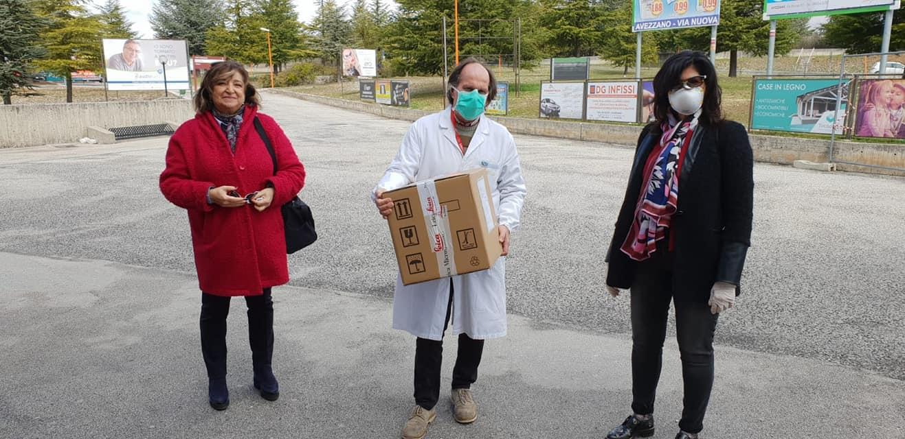 Emergenza conoravirus, il Rotary dona un saturimetro e 1700 mascherine all'ospedale di Avezzano