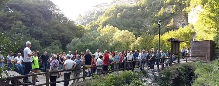 Emissario Claudio, dopo la caduta dei massi, il sindaco Ciciotti fa transennare l'accesso ai sentieri che conducono all'area archeologica