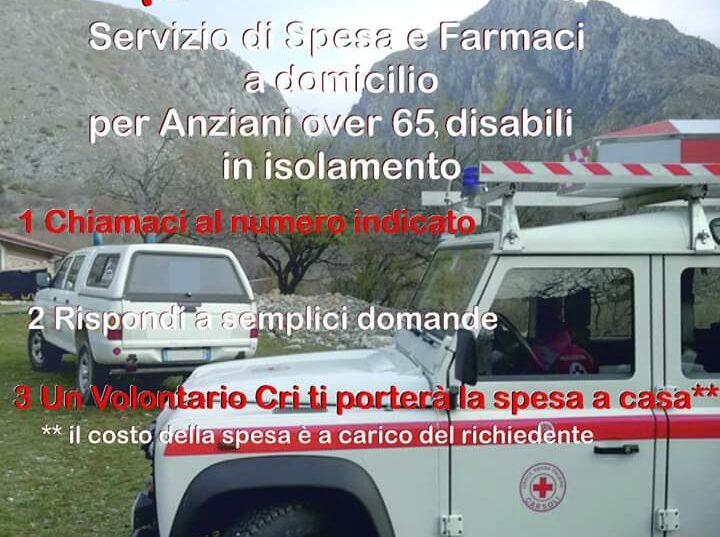 La Croce Rossa Italiana, comitato di Carsoli in prima linea per aiutare la popolazione anziana a restare calma