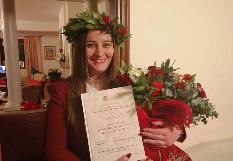 Giffi Anna Lisa si è brillantemente laureata in Giurisprudenza
