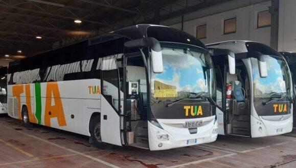 In servizio i nuovi autobus sulla L'Aquila-Roma con tutte le comodità per i passeggeri