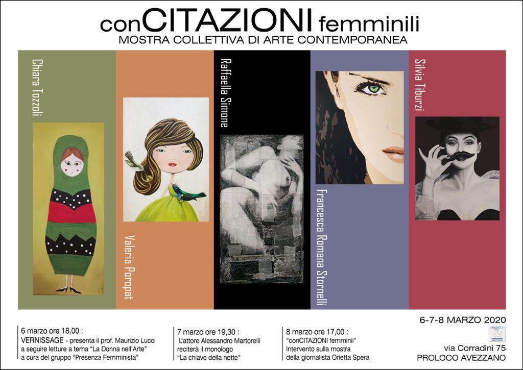 """8 marzo: """"Concitazioni Femminili"""", Mostra Collettiva di Arte Contemporanea"""