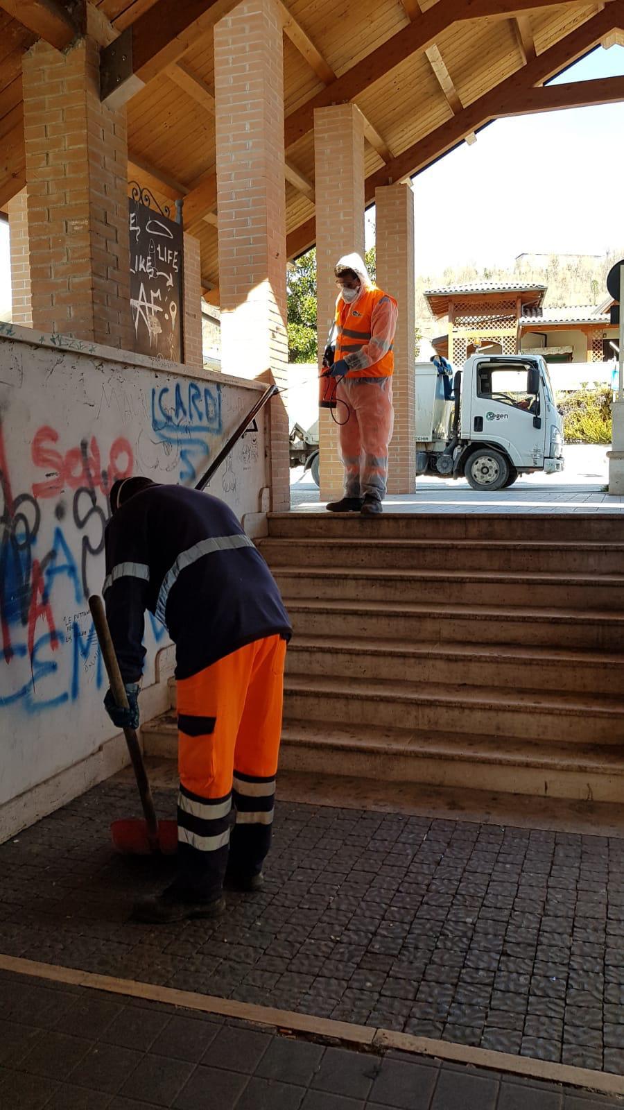 L'Amministrazione comunale di Tagliacozzo igienizza le strade del capoluogo e delle frazioni