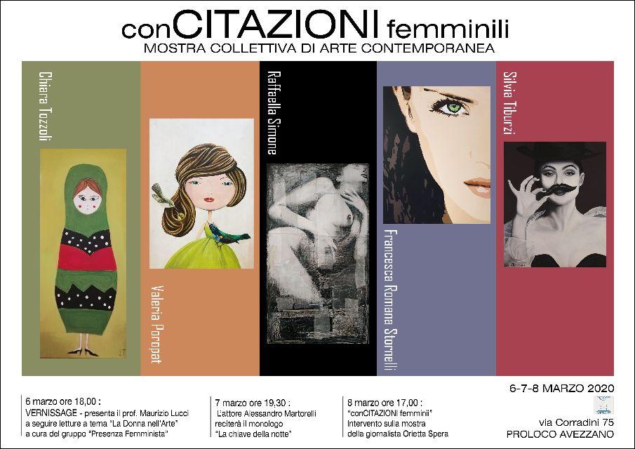 """Annullata la mostra Collettiva di Arte Contemporanea """"conCitazioni"""" femminili"""""""