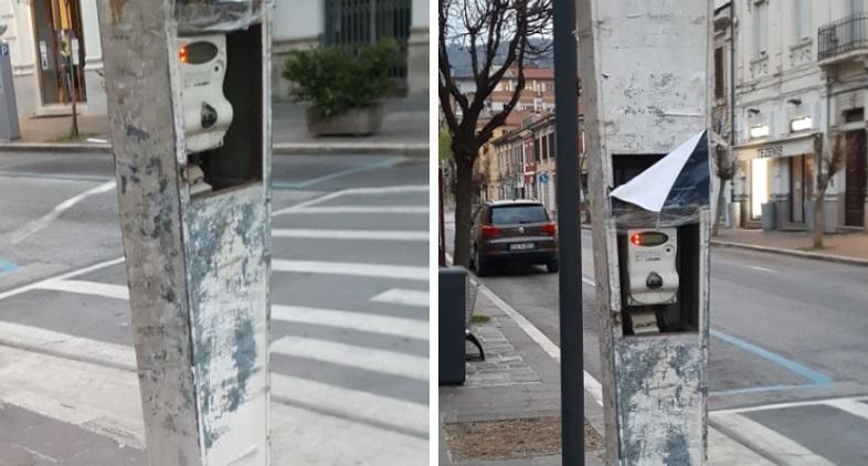 Avezzano centro, vandali scassinano un contatore