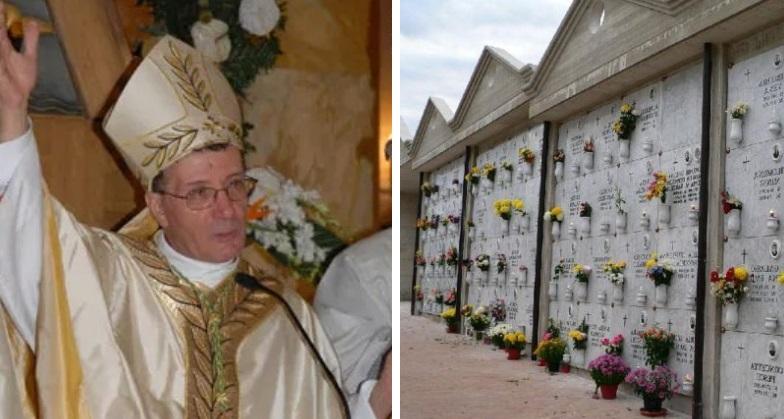 Venerdì della Misericordia, Vescovo Santoro in preghiera al cimitero per i defunti