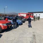 Saluto dei Vigili del fuoco e delle forze di Polizia al personale sanitario dell'ospedale San Salvatore