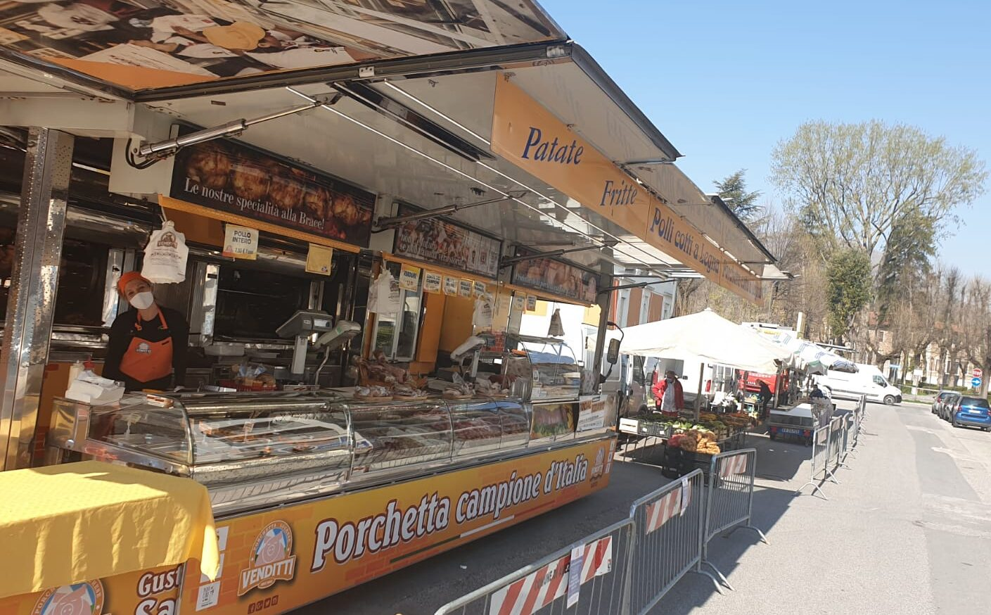 Coronavirus, ad Avezzano apre il mercato alimentare