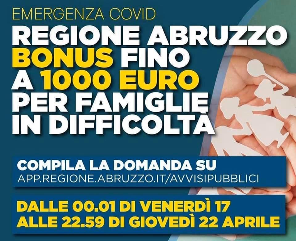 """Contributi ai nuclei familiari, Marsilio """"dalla mezzanotte sarà possibile partecipare al bando su benefici a nuclei familiari in condizioni di disagio"""""""