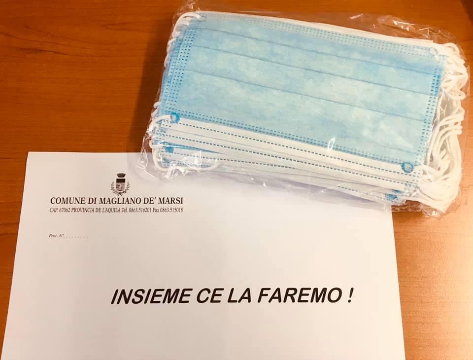 """Distribuite le mascherine a Magliano, il sindaco Amiconi """"Donate altre 600 mascherinechirurgiche, vi ringrazio per quanto già state facendo"""""""