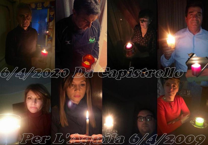 Terremoto dell'Aquila, l'Amministrazione comunale di Capistrello accende un lume per ricordare le vittime
