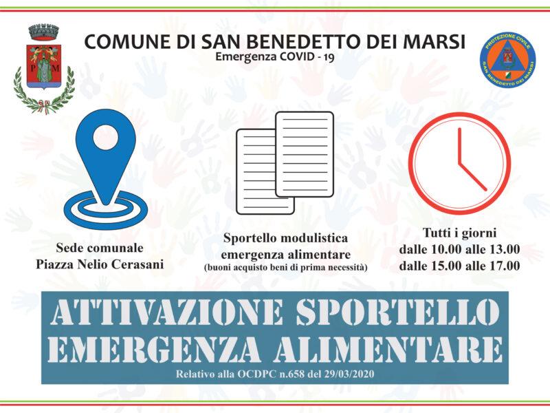 San Benedetto dei Marsi, attivato lo sportello per l'emergenza alimentare