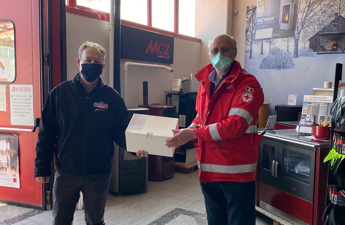 Atto di generosità alla Croce Rossa di Carsoli dall'azienda Progetto Casa