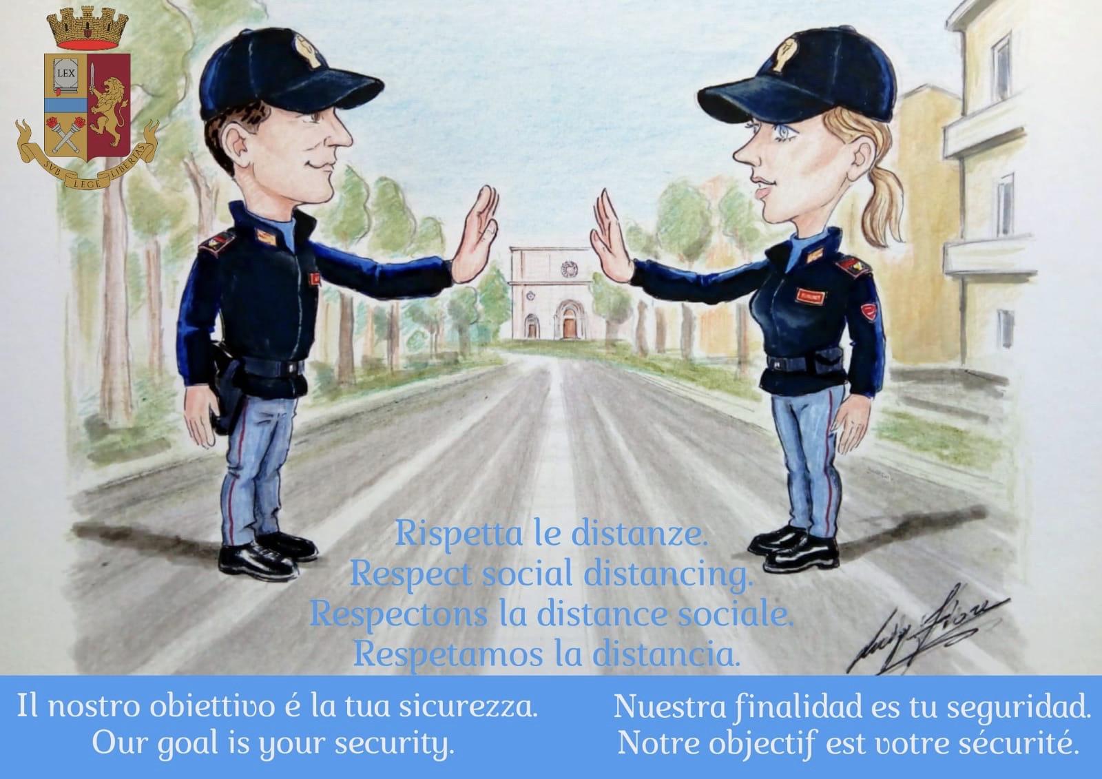 """Coronavirus Abruzzo: Questura L'Aquila, """"Arrestiamo il Covid 19"""""""