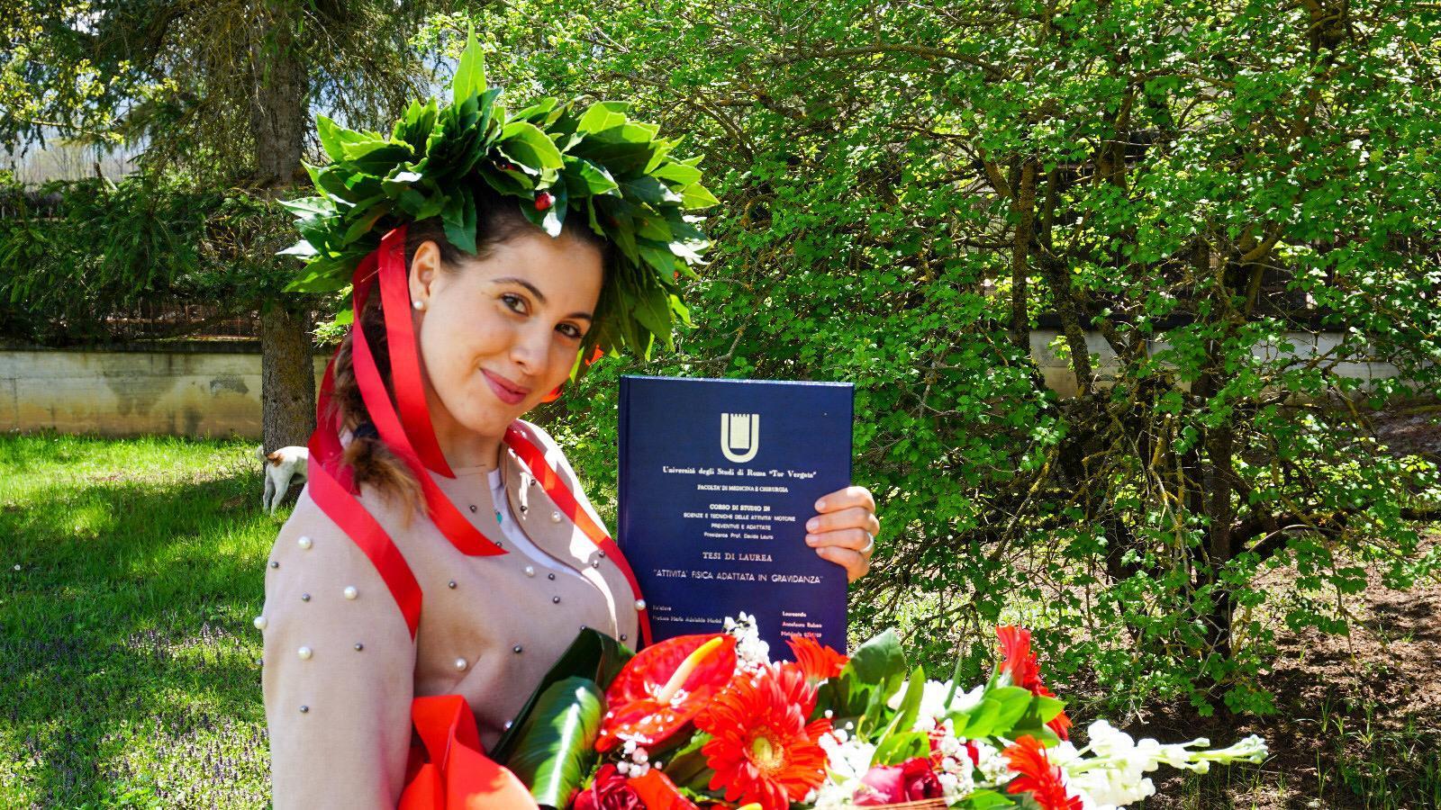Felice evento a Tagliacozzo, laurea da casa per Annalaura Rubeo