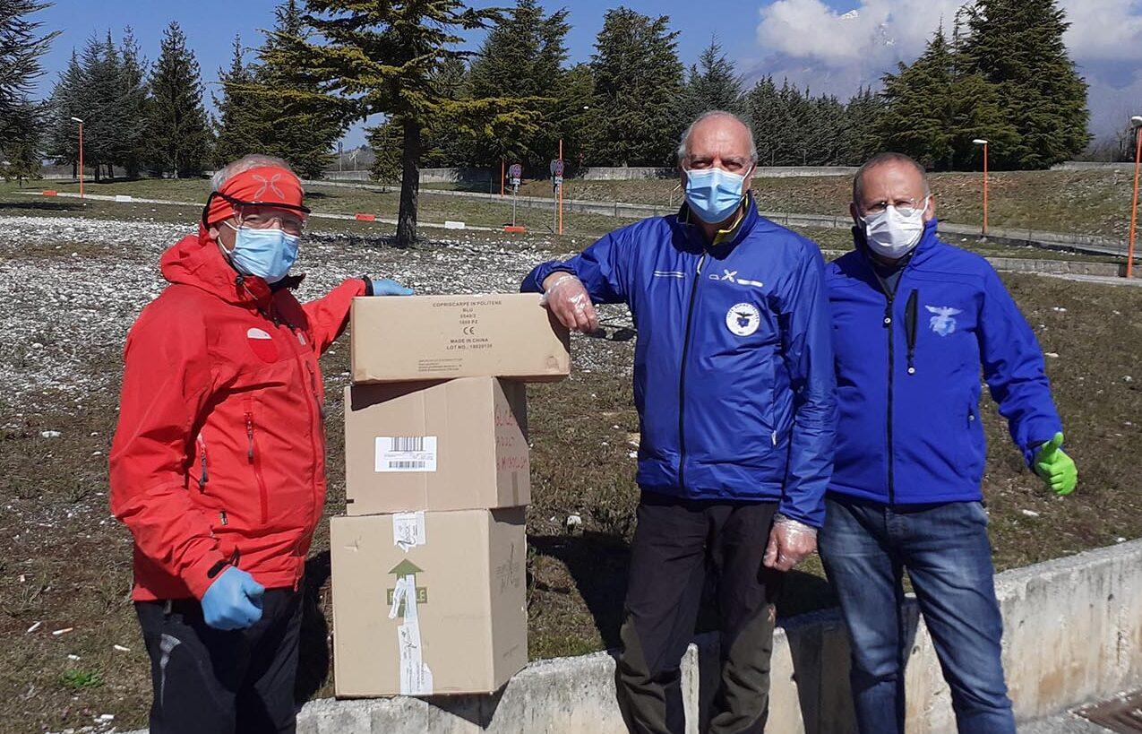 Il CAI di Avezzano dona dispositivi di protezione al Pronto Soccorso dell'Ospedale di Avezzano