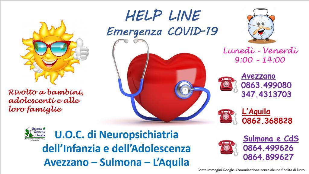Help line un servizio della Asl rivolto a bambini, adolescenti e loro famiglie