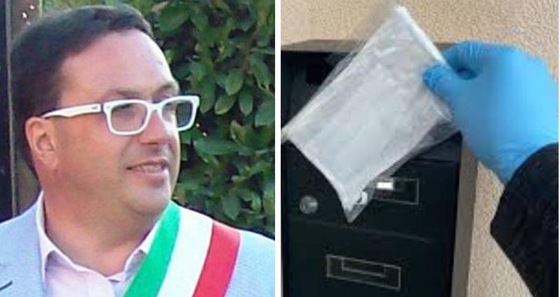 Il sindaco Tedeschi dona mascherine a Comuni e Forze dell'Ordine a Cerchio. Ne verranno distribuite cinquemila