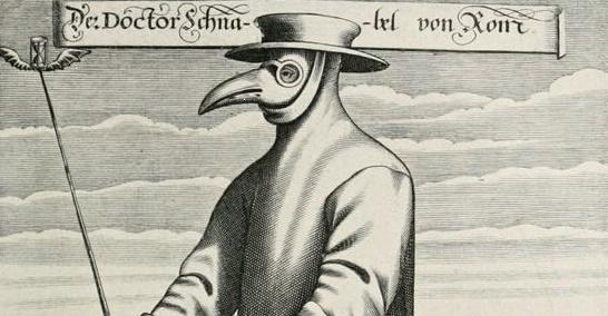 """Dispositivi di protezione individuale di una volta: la """"mascherina"""" del medico della peste"""