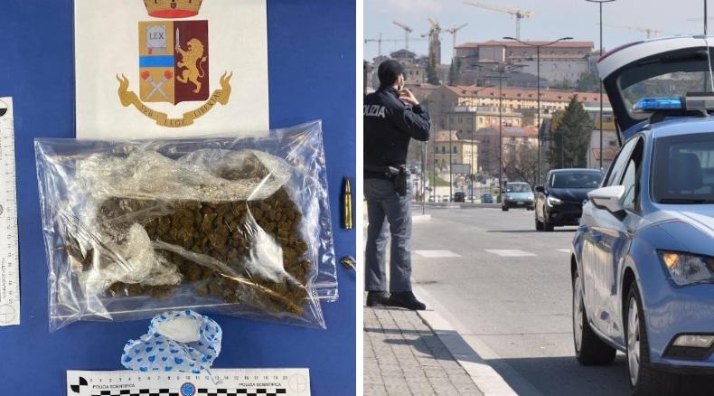 L'Aquila, arresti per detenzione di droga e foglio di via obbligatorio