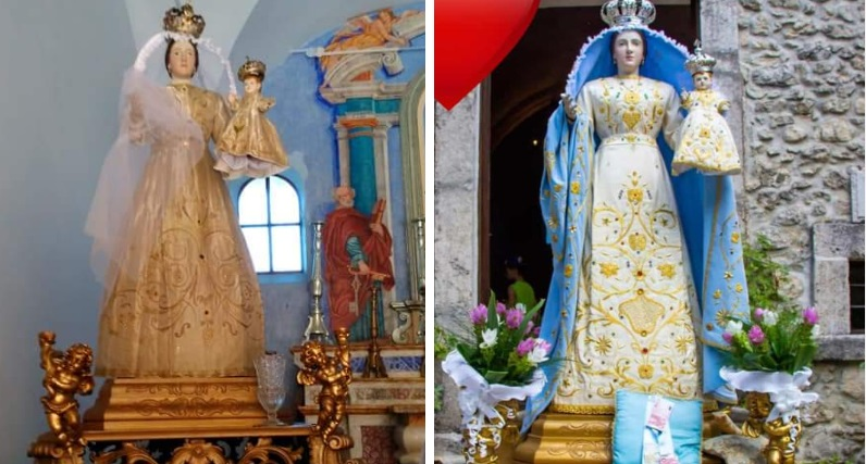 Roccavivi, furto al santuario: rubato il Manato della Madonna delle Grazie