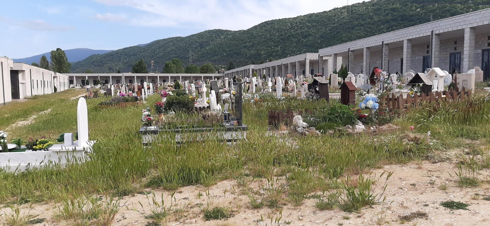 """Protesta dei cittadini di Avezzano, """"il cimitero è invaso dalle erbacce"""""""
