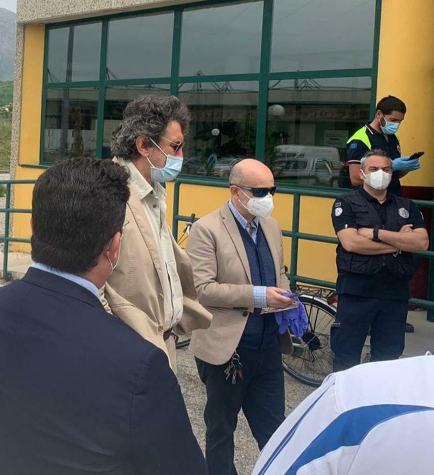 Visita di Marsilio all'interporto di Avezzano. Da oggi sarà il centro regionale per la distribuzione dei presidi emergenza COVID-19